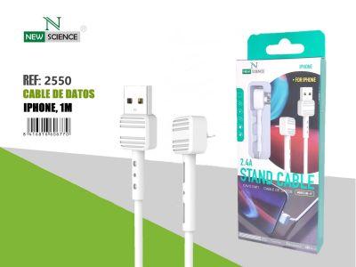 Cable iPhone 2.4A 60º Angle NE-49 Blanco