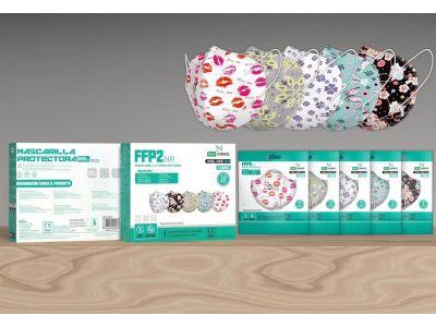 Mascarilla Estampada FFP2 Adulto (10 PCS)