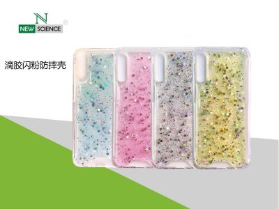 Carcasa Antigolpe con Purpurina Redmi Note 9 Pro/9S