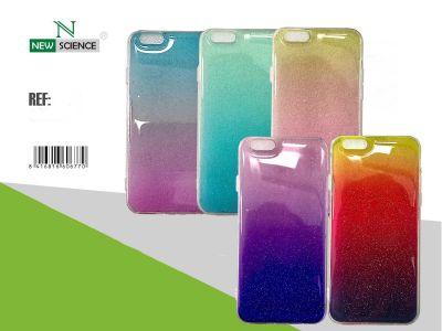 Funda Purpurina Color Gradiente(Mix) iPhone 6G