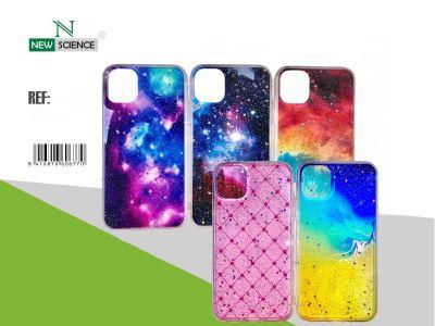 Funda Acrilica Dibujo Galaxia (Rosa) Redmi Note 8T