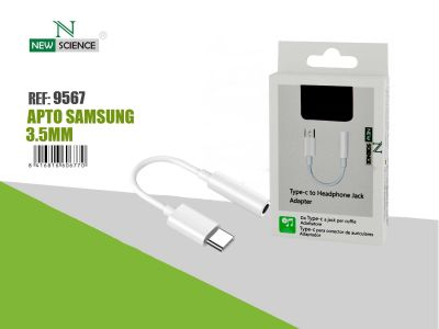 Adaptador Type C-Jack Apto Samsung