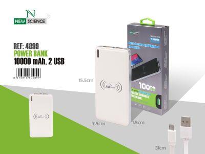 PowerBank con carga inalambrica 10000MaH Blanco