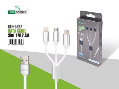 Cable 3en1 2.4A