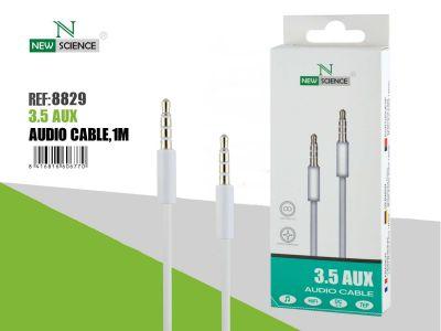 Cable AUX 3.5mm con micrófono Blanco