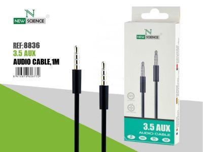 Cable AUX 3.5mm con micrófono Negro