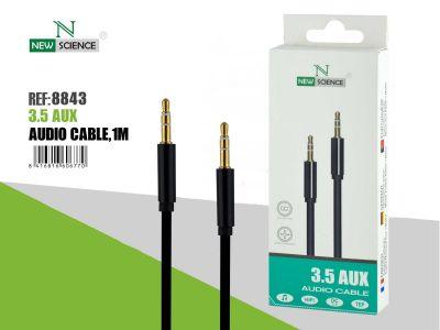 Cable AUX 3.5mm Jack Negro