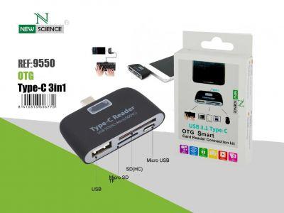 Lector Tarjetas USB 3.1--Tipo-C