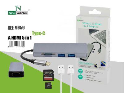 Adaptador Tipo C-HDMI 5 en 1