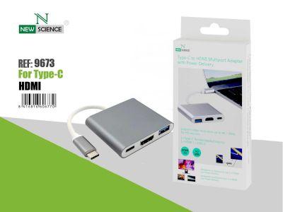 Adaptador Multipuerto Tipo C-HDMI con Power Delivery