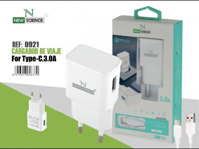 Cargador Tipo-C 3.0A Blanco FC-13