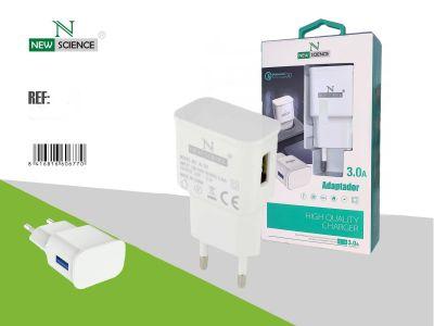 Adaptador Enchufe 3.0A Blanco FC-14