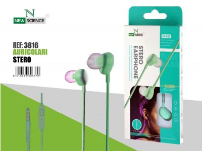 Verde - Auriculares JS-032