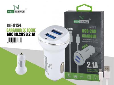Cargador Coche Micro USB 2USB 2.1A