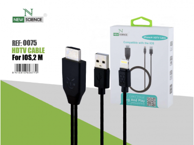 Cable HDMI a iPhone Negro