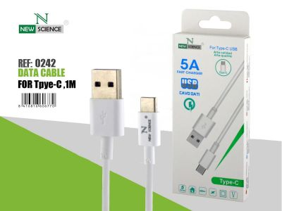 Cable Tipo-C 5A 1Metro Blanco Ref.0242