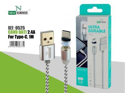 Cable con Iman Tipo C 2.4A 1 Metro
