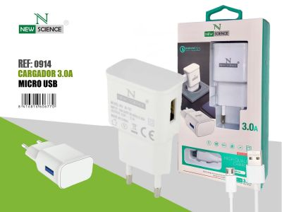 Cargador Micro USB 3.0A FC-12