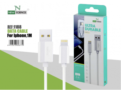 Cable iPhone 2.4A Blanco NS-18