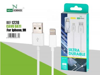 Cable iPhone 2.4A 1Metro NS-102