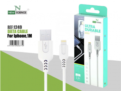 Cable iPhone 2.4A NS-24 Blanco