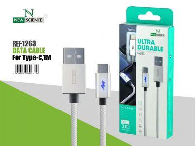 Cable con Luz Type C 3.0A Blanco NS-26