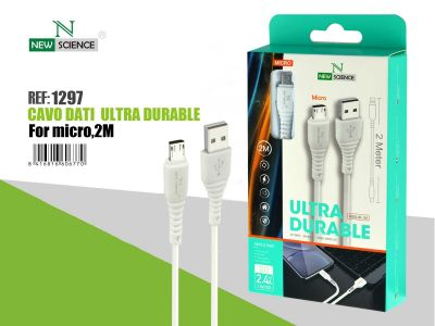 Cable Micro USB 2 Metros NS-106