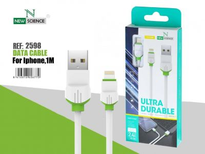 Cable iPhone P.Verde 2.4A 1Metro NE-50