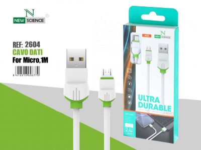 Cable Micro USB P.Verde 2.4A 1Metro NE-51