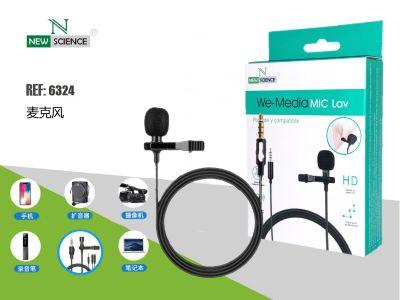 Microfono Grabacion de Audio Aux. We-Media MIC Lav