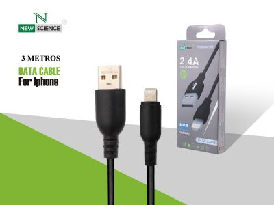 Cable grueso 2.4A iPhone 3 Metros