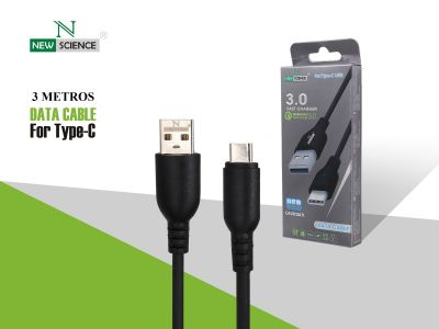 Cable grueso 3.0A Tipo C 3 Metros