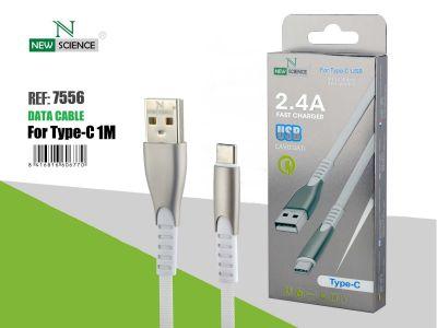 Cable Aluminio reforzado Tipo C 2.4A