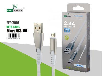 Cable Aluminio reforzado Micro USB 2.4A