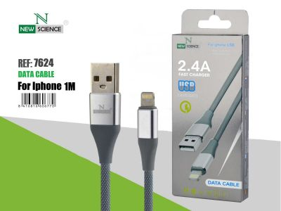 Cable iPhone Metalizado 2.4A