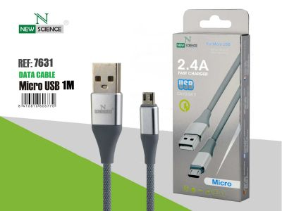 Cable metalizado Micro USB 2.4A
