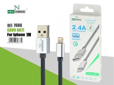 Cable tipo cuerda iPhone 2.4A