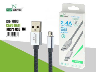 Cable tipo cuerda Micro USB 2.4A