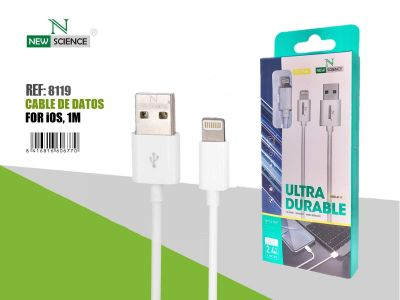 Cable iPhone 2.4A 1Metro NS-46 Blanco