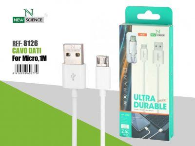Cable Micro USB 2.4A 1Metro NS-44