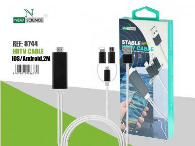 Cable 3en1 Movil-HDMI HC-03