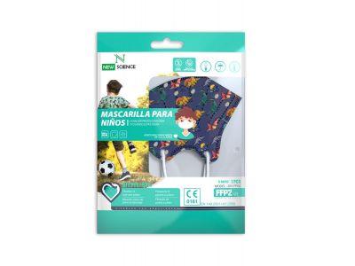 Mask FFP2 Infantil estampado chico (Pack 10)