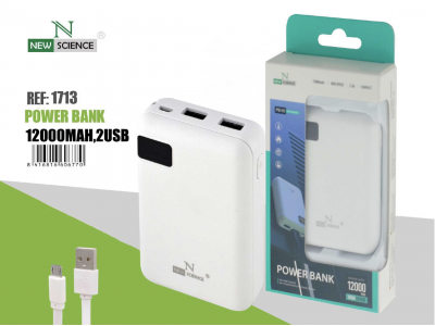 PowerBank 12000 Mah Negro PB-05/06