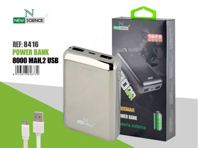 Powerbank 8000 Mah Gris