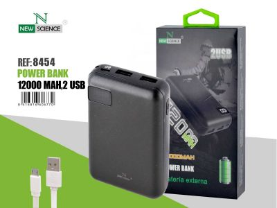 Powerbank 12000 Mah Negro