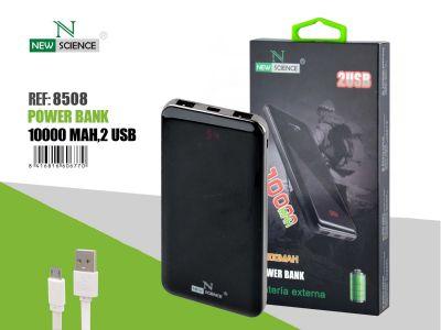 Powerbank 10000 Mah Fino Negro