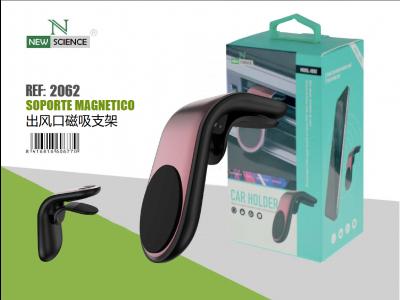 Soporte Magnetico Coche(Aire Ac.)Rosa HD02